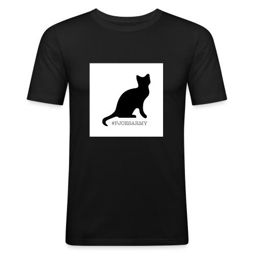 #pjoesarmy met poes - Mannen slim fit T-shirt