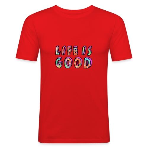 LifeIsGood - Men's Slim Fit T-Shirt