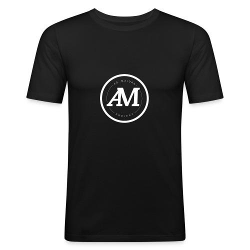 AdMaiora logo white - Maglietta aderente da uomo