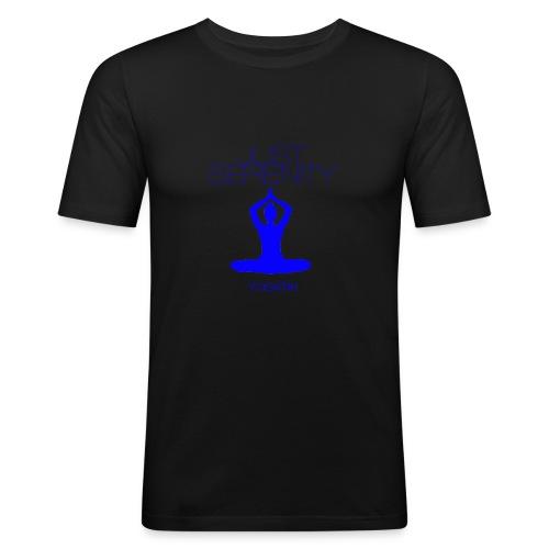 yogatyk blue - T-shirt près du corps Homme