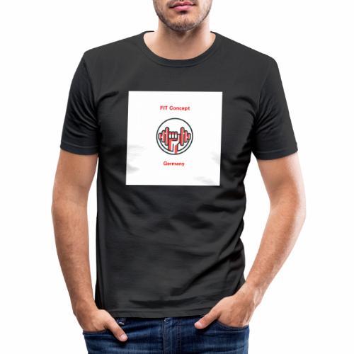 FIT Concept Germany Logo+Beschriftung - Männer Slim Fit T-Shirt