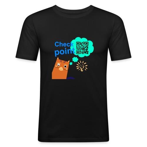 Duna Checkpoint - Slim Fit T-skjorte for menn