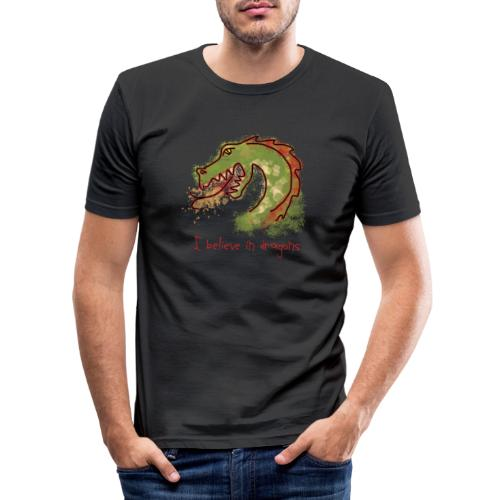 I believe in dragons - Men's Slim Fit T-Shirt