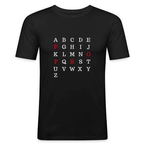 Alphabet prof 2 - T-shirt près du corps Homme