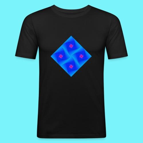 Curves of pursuit design 2 - Men's Slim Fit T-Shirt