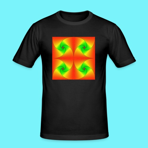 Pursuit curves in red and green - Men's Slim Fit T-Shirt