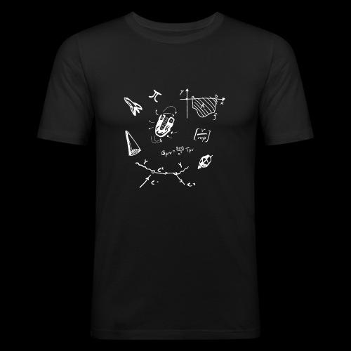 Doodles Weiss - Männer Slim Fit T-Shirt
