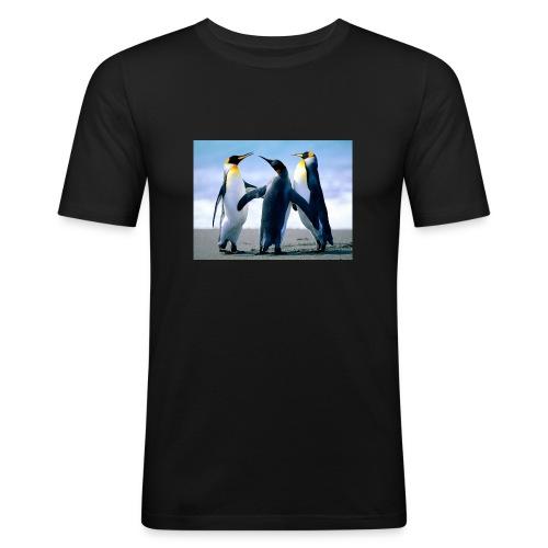 Penguins - Maglietta aderente da uomo