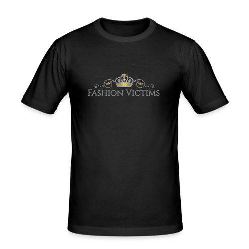 Official Fashion Victims Logo Gold/Silver - Mannen slim fit T-shirt