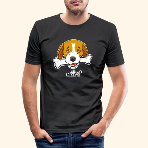 Nice Dogs Semolino - Maglietta aderente da uomo