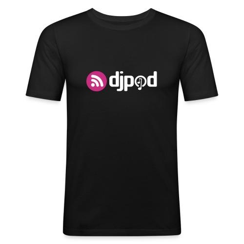 djpod logo floc - T-shirt près du corps Homme