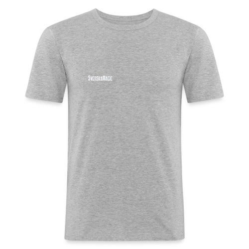 svmlogo vit - Slim Fit T-shirt herr