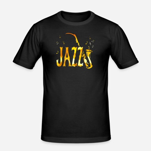 Tribal Saxophon Jazz Musik - Männer Slim Fit T-Shirt