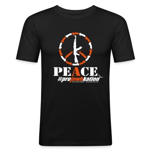 guns4peace projowhkation 1 vect1 - Männer Slim Fit T-Shirt
