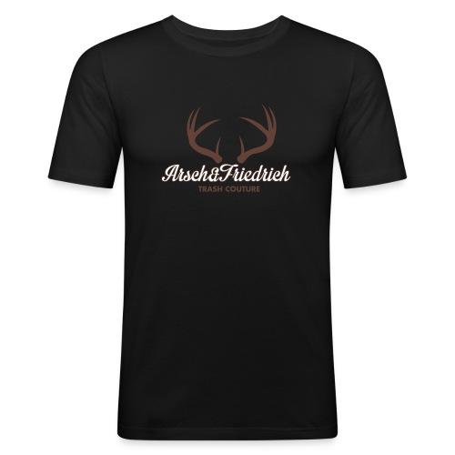 Arsch und Friedrich - Männer Slim Fit T-Shirt