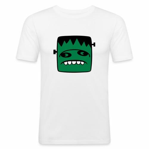 Fonster pur weißer Rand - Männer Slim Fit T-Shirt