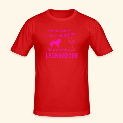 Wine&Leonberger - Slim Fit T-shirt herr