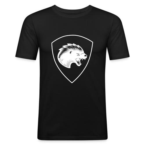 Pionjärpluton LL (logo och båge) - Slim Fit T-shirt herr