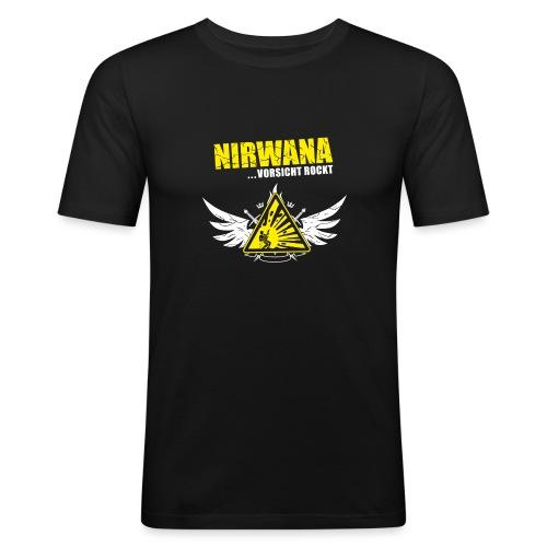 nirwana_logo_fluegel-dunk - Männer Slim Fit T-Shirt