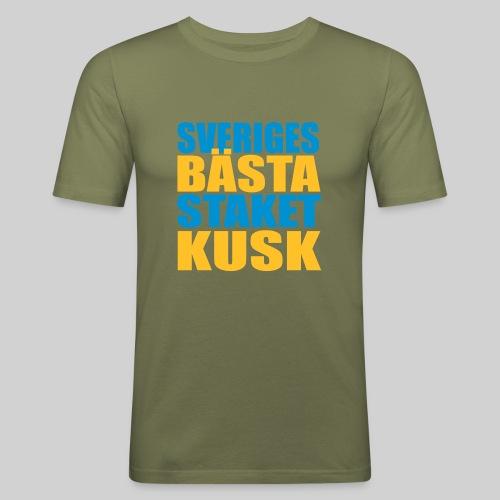 Sveriges bästa staketkusk! - Slim Fit T-shirt herr