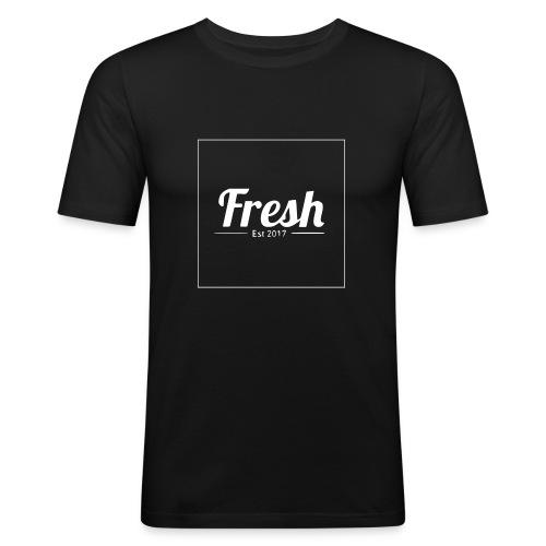 white square - Men's Slim Fit T-Shirt