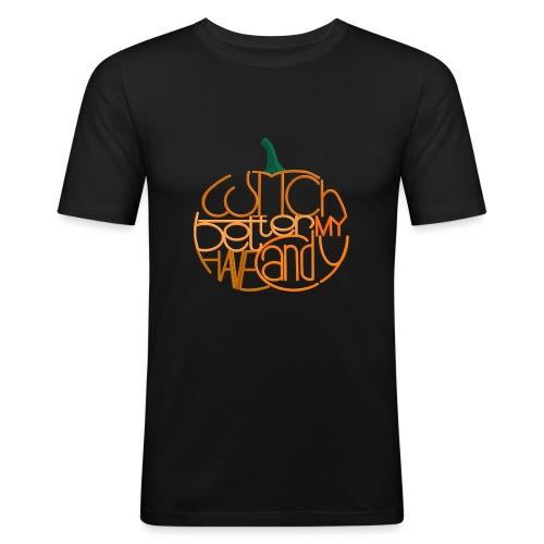 Græskar med citat - Herre Slim Fit T-Shirt