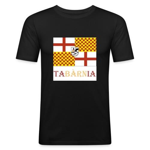 Bandera Tabarnia con escudo y nombre - Camiseta ajustada hombre