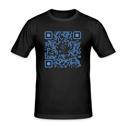 QR The New Internet Shouldn t Be Blockchain Based - Men's Slim Fit T-Shirt
