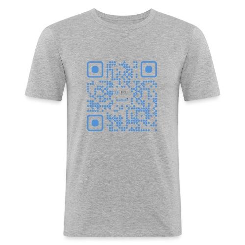 QR Maidsafe.net - Men's Slim Fit T-Shirt