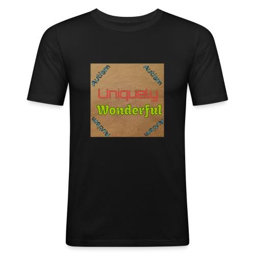 Autism statement - Men's Slim Fit T-Shirt