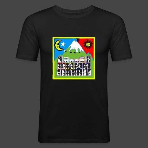 TEKNO SQUAT RESEAU couleur TRIP par TEKNO 23 - T-shirt près du corps Homme