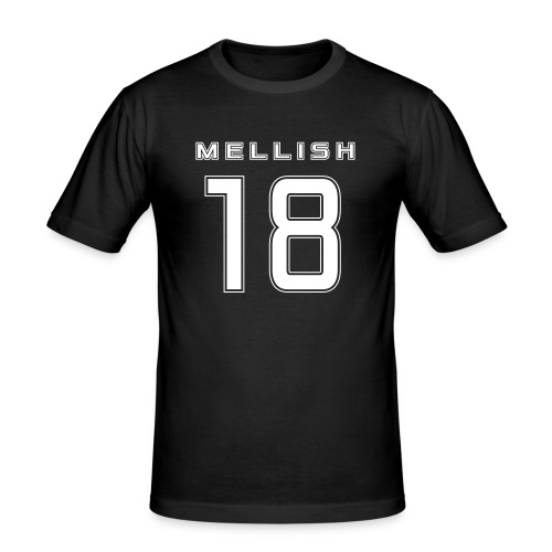 Mellish Number White - Men's Slim Fit T-Shirt