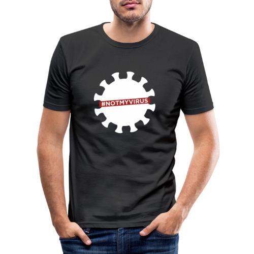 NotMyVirus White - T-shirt près du corps Homme