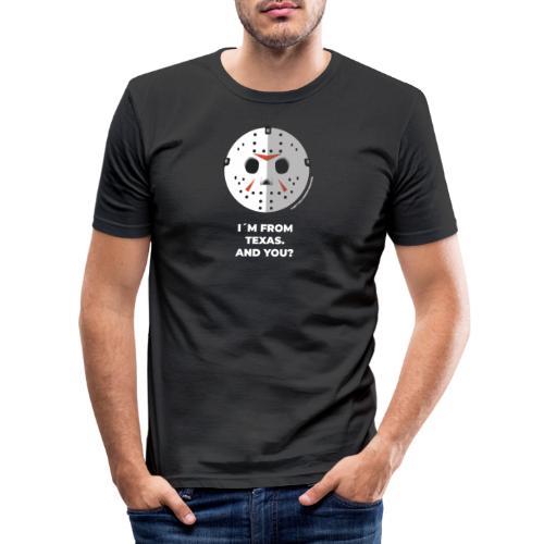Jason Texas Chainsaw - Halloween Flirt Monster - Männer Slim Fit T-Shirt