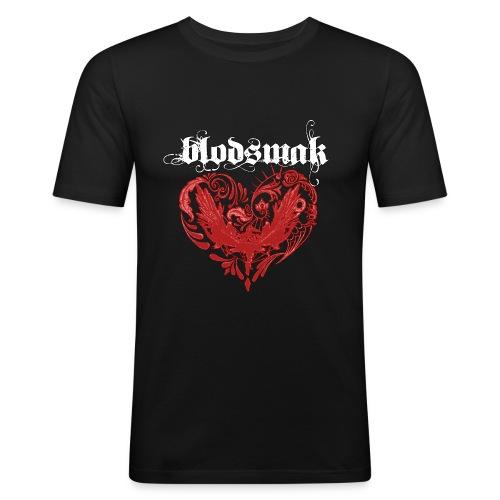 Blodsmaklogotracehvit png - Slim Fit T-skjorte for menn