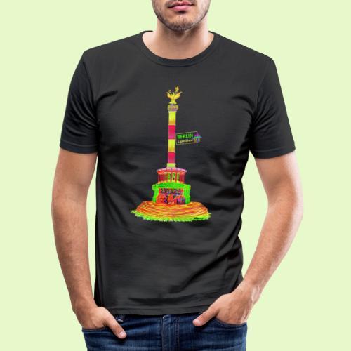 DIE Siegessäule / BerlinLightShow / PopArt - Männer Slim Fit T-Shirt