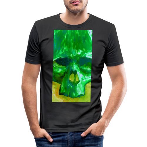 Green Skull - Mannen slim fit T-shirt