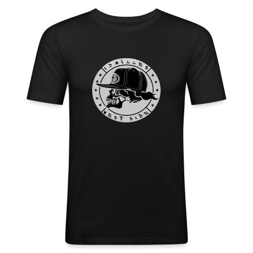 skull 13 milles noir et gris super design - T-shirt près du corps Homme