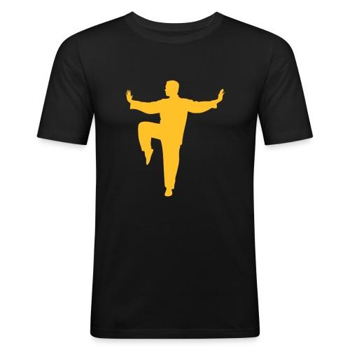 Taichi kick - Männer Slim Fit T-Shirt
