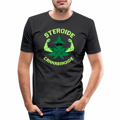 Cannabis Steroid - Männer Slim Fit T-Shirt