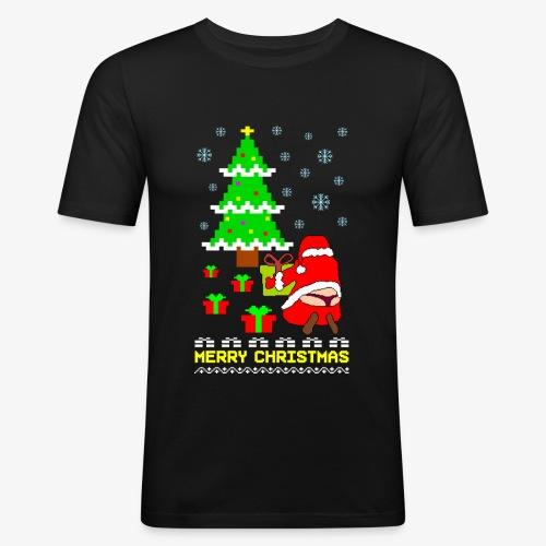 Merry Christmas Santa Tanga Ugly Xmas - Männer Slim Fit T-Shirt