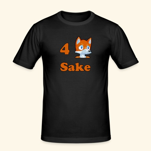 4 Fox Sake - Slim Fit T-shirt herr