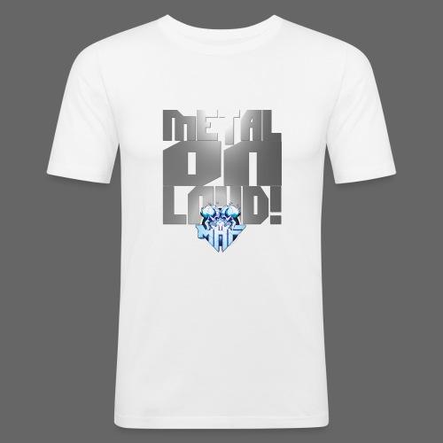 metalonloud large 4k png - Men's Slim Fit T-Shirt