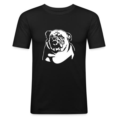 English Bulldog - negative - Miesten tyköistuva t-paita