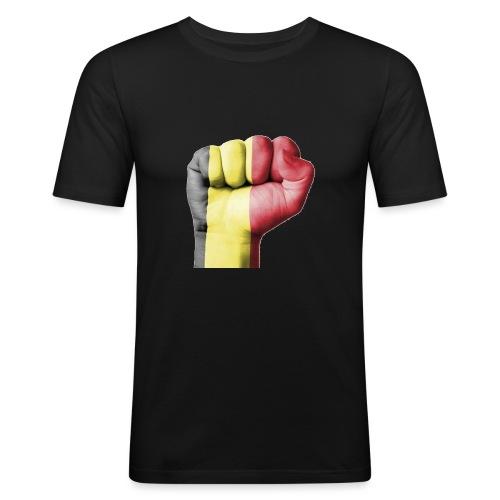 La résistance Belge - T-shirt près du corps Homme