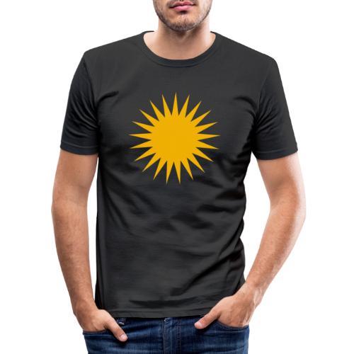 Kurdische Sonne Symbol - Männer Slim Fit T-Shirt