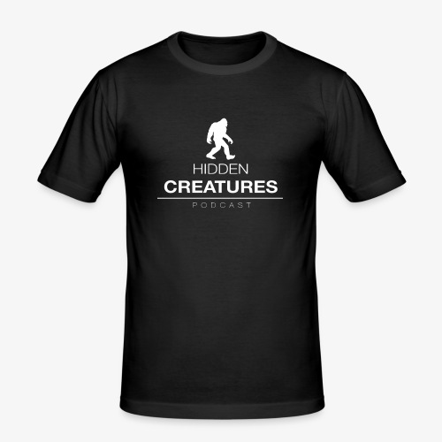 Hidden Creatures Logo White - Men's Slim Fit T-Shirt