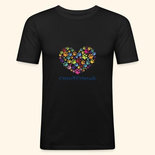 CUOREZAMPE - Maglietta aderente da uomo