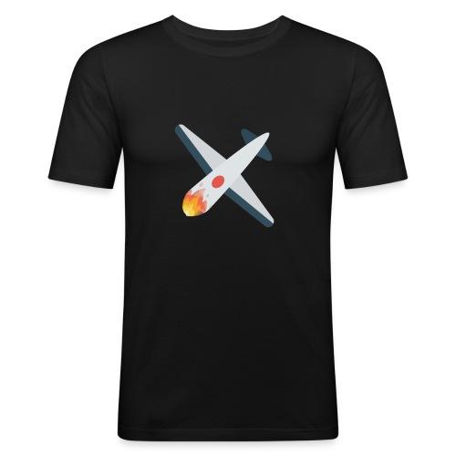 Falling Plane - Men's Slim Fit T-Shirt
