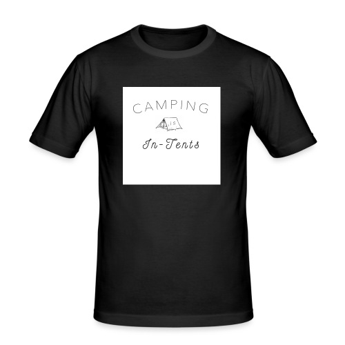 camping is in-tents - Men's Slim Fit T-Shirt